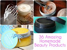 36 Amazing Homemade Beauty Products. Forget the beauty salon and get some guilt-free pampering with these 36 fantastic homemade beauty products. Our list includes everything from easy-to-make shampoo, to luxurious body lotion and an all-natural mascara so you can take care of both your skin, your hair and your make-up.