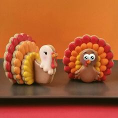 3D Turkey Cookies. You can find the cutters for these cookies in our Etsy shop.