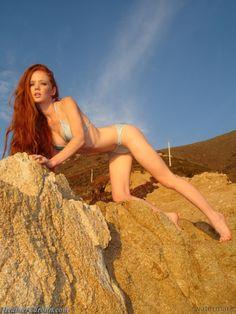 Redhead bikini model Heather Carolin
