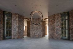 in vejle, denmark, olafur eliasson and his studio has completed its first architectural building project, fjordenhus, commissioned by KIRK KAPITAL. Vejle, Studio Olafur Eliasson, Glazed Brick, Artistic Installation, Brick Facade, Boho Designs, Brickwork, Building Design, Denmark
