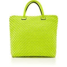 Leghila Woven Neoprene Twist Bag found on Polyvore