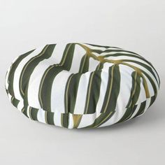 Floor Pillow Palm Leaf Round Square 26 or by BacktoBasicsPillows