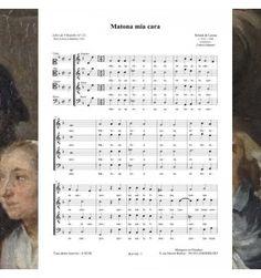 Roland de LASSUS : Matona mia cara - chanson de la Renaissance pour choeur à 4 voix mixtes - musique publiée aux éditions Musiques en Flandres - référence MeF 602