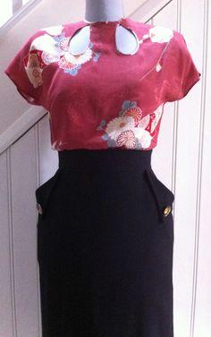 Simple vintage style blouse- free pattern.