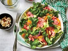 Citrus-Salmon Salad Recipe   Create a fresh, flavorful citrus salad with our favorite slow-cooked salmon, seasoned with an aromatic blend of lemongrass, fennel, scallions, and dry white wine. Our homemade citrus vinaigrette steals the show with its crisp combination of orange juice, honey, Dijon mustard, and orange zest. Tender, baby soft butter lettuce pairs perfectly with the light dressing and simple ingredients. Avocado adds a lovely creaminess to each bite, while the salmon and orange