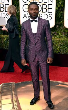 David Oyelowo from Best Dressed Men at the 2016 Golden Globes  Can we please give him a big hell yes? We love a man who takes a risk and looks great doing it!