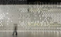 perforated pattern wall for skin installation in lisbon | lem