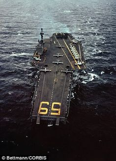 USS Forrestal (CV-59), I remember it had a terrible incident when a sea sparrow missile went awry and caused a fire off Viet-Nam which nearly destroyed the ship.