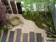 Japanese style garden accent