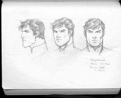 Superman Jim Lee sketches