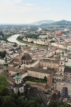 Salzburg, Austria--view I had from the castle as I ate my sack lunch on the steps and enjoyed the view! Or maybe I enjoyed the lunch and devoured the view! Places Around The World, Oh The Places You'll Go, Places To Travel, Places To Visit, Around The Worlds, Wonderful Places, Beautiful Places, Zell Am See, Hallstatt