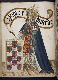 Edward III, father of both the York (through sons Lionel of Antwerp and Edmund of Langley) and Lancaster (through son John of Gaunt) lines - image identified by the The British Library