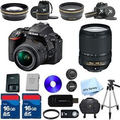 Top Value Bundle For D5500 24.2 MP CMOS Digital SLR with 18-140mm f/3.5-5.6G ED VR Lens AL'S VARIETY Premium Lens Kit + 2 High Speed 16GB Memory Cards + Deluxe Case +Cleaning Kit + 9pc Bundle
