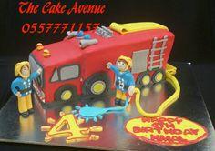 Fire truck cake Truck Cakes, Fire Trucks, Desserts, Food, Meal, Deserts, Essen, Firetruck, Hoods