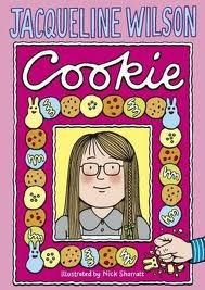 Jacqueline Wilson-Cookie  Frequently berated for breaking his hyper-fussy house rules, as well as for her lack of looks, confidence and friends, Beauty lives in uneasy fear whenever Dad's home. Her pretty, sweet mum is equally afraid of him.  Eventually,