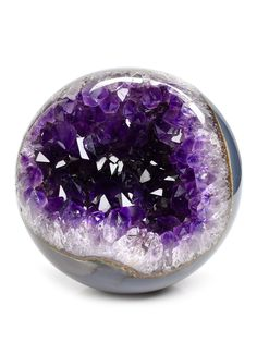 We offer crystal spheres in various sizes from under to and above. We have clear quartz crystal balls, rose quartz spheres, and selenite spheres. Purple Love, All Things Purple, Minerals And Gemstones, Rocks And Minerals, Crystal Aesthetic, Amethyst Geode, Rare Gems, Crystal Sphere, Rocks And Gems
