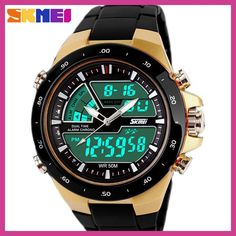 Cheap watch relogio, Buy Quality watch relogio masculino directly from China watch men Suppliers: Skmei Men Sport Watch Relogio Masculino Waterproof Silicone quartz-watch Clock Male S Shock Military Casual Sports Men's Watches Men's Watches, Fashion Watches, Watches For Men, Wrist Watches, Analog Watches, Cheap Watches, S Shock, Waterproof Sports Watch, Luxury Watches