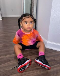 Cute Little Girls Outfits, Kids Outfits Girls, Toddler Outfits, Baby Outfits, Cute Kids Fashion, Baby Girl Fashion, Cute Mixed Kids, Toddler Girl Style, Cute Baby Pictures