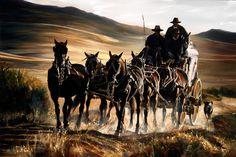 stagecoach_40x60.... by Paul Van Ginkel