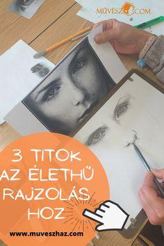 Rajztanítás-Elárulunk 3 TITKOT, ami elengedhetetlen az élethű rajzoláshoz!! Katt>> Cover, Books, Libros, Book, Book Illustrations, Libri