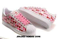 separation shoes eafe9 00da9 You Will be fashion with our Adidas Women Originals Superstar 2 Hearts Print  Casual Pink White - All Adidas Shoes For Sale Now