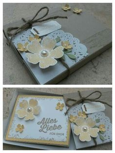 Stampin up Schiebeschachtel mit Karte, pansy punch, itty bitty petals, ticket for you, timeless textures, bird punch