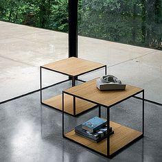 Beautiful, ultramodern 'Pitagora' coffee table. Wooden, metal amazing piece for every room. My Italian Living.