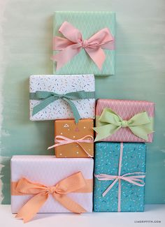 FREE Printable Summer Gift Wraps