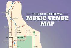 The Best Live Music Venue Near Every Manhattan Subway Stop