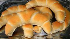 Egyszerű tejes kifli Hot Dog Buns, Hot Dogs, Bread Dough Recipe, Bread Rolls, Bread Baking, Bread Recipes, Good Food, Cookies, Baking