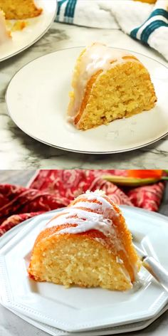 Glazed Lemon Ricotta Cake is made in a bundt pan. It's extremely moist and tender thanks to the ricotta cheese in the batter. Glazed Lemon Ricotta Cake is made in a bundt pan. It's extremely moist and tender thanks to the ricotta cheese in the batter. Lemon Desserts, Lemon Recipes, Just Desserts, Sweet Recipes, Baking Recipes, Delicious Desserts, Cake Recipes, Dessert Recipes, Desserts With Ricotta Cheese
