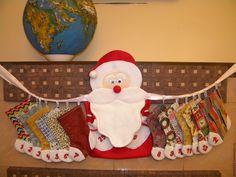 """Купить Адвент календарь """"Новогодние носочки"""" - комбинированный, Новый Год, подарок на новый год"""