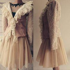 #pastel #mihradesign #lacejacket #fashionjacket #beautifulcolours #skirtlover #dresslace #skirtfashion  #haljinice http://bit.ly/2bQaaAI