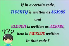 If in a certain code, TWENTY is written as 863985 and ELEVEN is written as 323039, how is TWELVE written in that code?