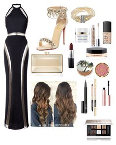 """Untitled #10"" by himani3446 on Polyvore featuring Balmain, Christian Louboutin, Judith Leiber, NARS Cosmetics, Urban Decay, MAC Cosmetics, Kevyn Aucoin, Milani, Givenchy and Too Faced Cosmetics"