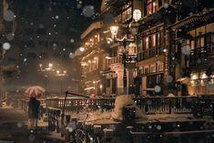「絵かと思った」雪の日の温泉街を捉えた写真が、あまりにも幻想的すぎる! 4枚   BUZZmag