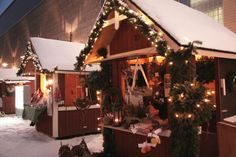 2012 Christmas Markets & Fairs in Finland - Discovering Finland Finland Travel, Winter's Tale, Shopping Street, Winter Christmas, Countries, Snow, Lights, Places, Lighting