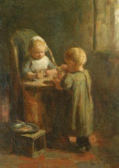 Evert Pieters (1856 – 1932, Dutch)  The Tower Blocks