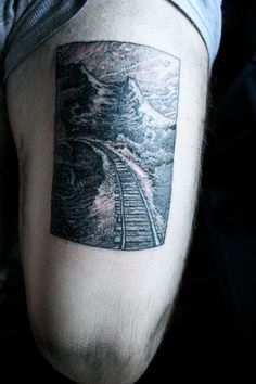 traintracks tattoo - Google Search
