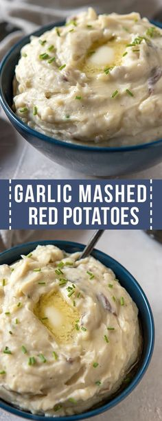 Add a classic side dish to your dinner menu with these Garlic Mashed Red Potatoes with Chives! The red skin mashed potatoes can also be cooked in the Instant Pot or pressure cooker. Garlic Mashed Red Potatoes Spoonful of Flavor Mashed Potatoes With Skin, Red Skin Potatoes Recipe, Garlic Red Mashed Potatoes, Instapot Mashed Potatoes, Pressure Cooker Mashed Potatoes, Perfect Mashed Potatoes, Red Skinned Potatoes, Paula Deen Mashed Potatoes, Recipes With Red Potatoes