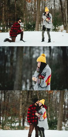 He got on one knee in the middle of their photoshoot, and she couldn't stop crying happy tears. Wedding Proposals, Marriage Proposals, Wedding Humor, Wedding Pics, Dream Wedding, Wedding Ideas, Winter Proposal, Romantic Proposal, Perfect Proposal