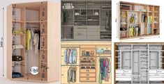 دستورالعمل استاندارد طراحی کمد لباس Diy Storage Shelves, Hidden Storage, Locker Storage, Bedroom Wardrobe, Wardrobe Closet, Master Bedroom, Closet Layout, Closet Remodel, Wardrobe Cabinets