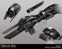 Deus Ex Mankind Divided - Jensen PEPs Augmentation, Bruno Gauthier Leblanc on ArtStation at https://www.artstation.com/artwork/EzEJ2