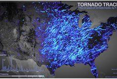 tornado map, tornado track map, where tornadoes hit, united states tornadoes, tornado season 2012, severe weather maps, tornado alley, weather