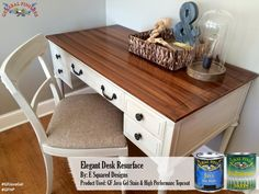 E Squared Designs, https://www.facebook.com/esquareddesignsng, transformed this desk top with GF's Java Gel Stain.  GF's Gel stains require little prep, are user friendly and look fantastic! You can find your favorite GF products at Woodcraft, Rockler Woodworking stores or Wood Essence in Canada. You can also use your zip code to find a retailer near you at http://generalfinishes.com/where-buy#.UvASj1M3mIY. #generalfinishes #javagel #gfhptc