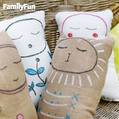 An Easy-to-Sew Stuffed Pal: This project teaches kids how to make a small pillow -- and leaves them with a new best friend.
