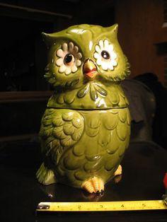 Vintage Owl Cookie Jar made in Japan by Josef Originals