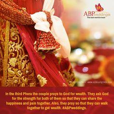 তৃতীয় পাক | #ABPweddingsTrivia Wedding Trivia, Bengali Wedding, Walk Together, Wedding Rituals, Praying To God, Couples, Couple