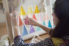 Weaving artist!