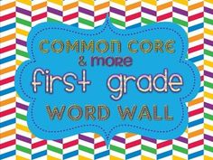 First Grade Common Core Content Word Wall!!